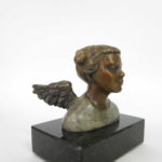 Tête d'ange aux lulus - bronze 2x3x3