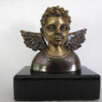 Tête d'ange garçon - bronze 2x4x3