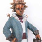 Petit prince au sabre - bronze (détail)